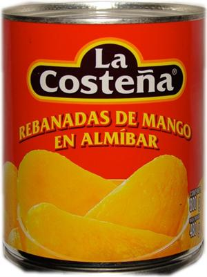 Mango Slices In Syrup Canned Mango By La Costena