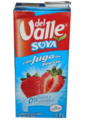 Soy Strawberry Juice by Del Valle