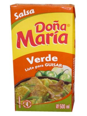 how to make mole verde with dona maria