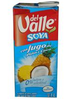 Soy Pineapple Coconut Juice Del Valle