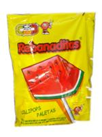 Rebanaditas Watermelon Lollipops - Mexican Candy